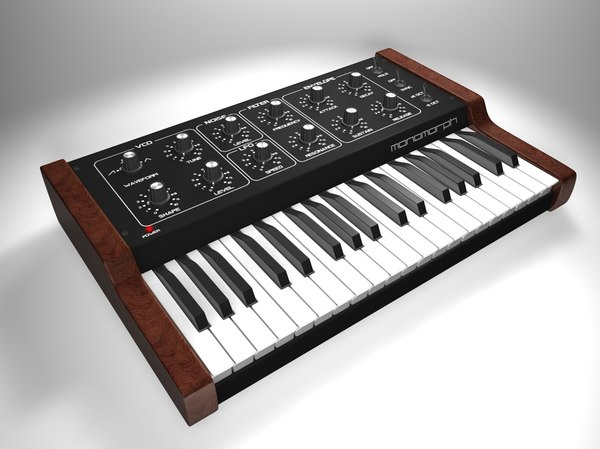 3d model vintage synthesizer