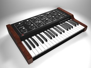 3d model vintage synthesizer