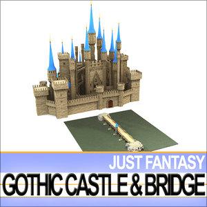 vob vue gothic castle 3d model