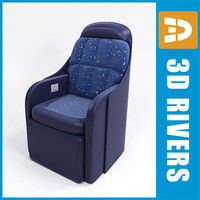 3d model of airplane class seats