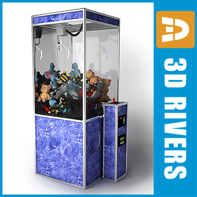 claw vending machine catcher 3d model