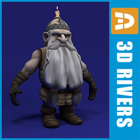 3d dwarf fairy tale model