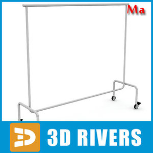 3ds max metal clothing rack v1