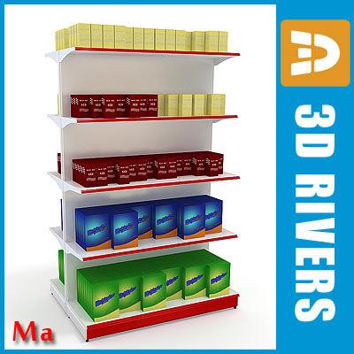 double-sided shelving v1 02 3d model