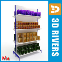 3d model shop shelves 01 v1