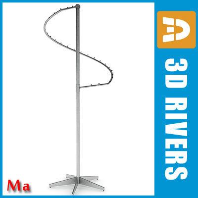 3d clothing rack v1 02 model