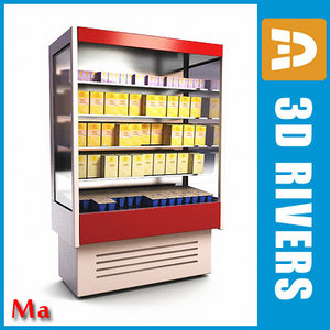 3d model wall freezer v1 02