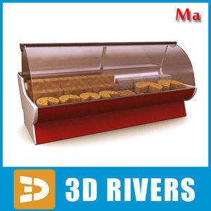 3ds max display freezer cheese 01