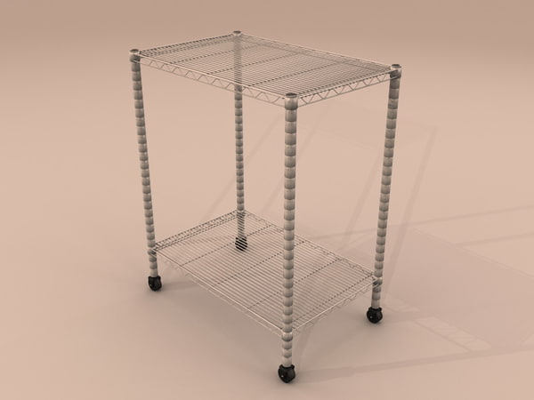 3ds table chrome metal wire