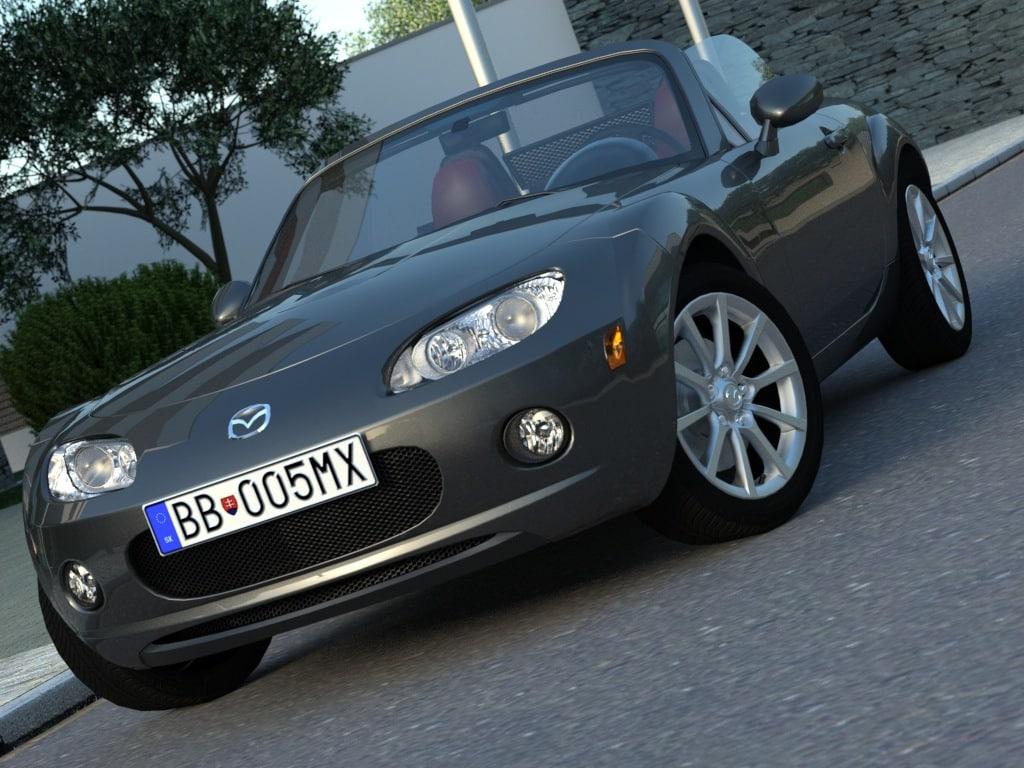 3d model convertible sports