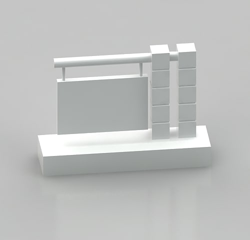 3d model monument sign style 8