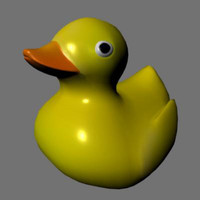 rubber ducky duck obj free
