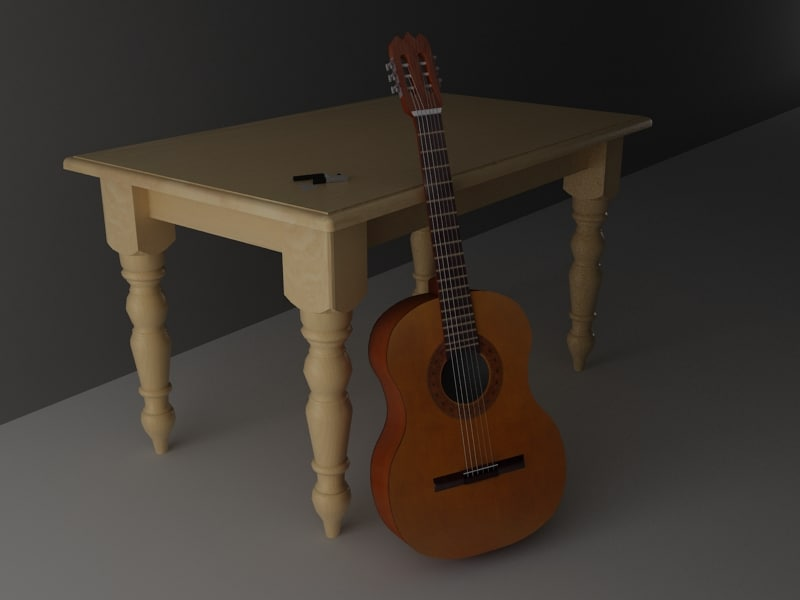 3d guitar capo plectrum model