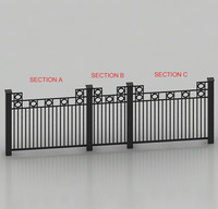 rod iron fence 3d model