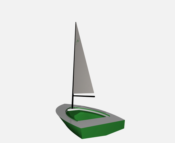small sailing boat 3ds free