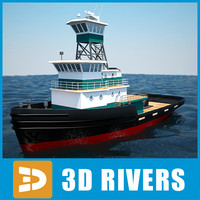 Sea Tug 01 by 3DRivers