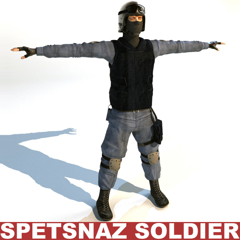 3d spetsnaz soldier games model