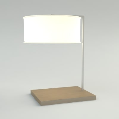 3d model table lamp - materials