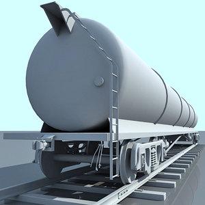 3d train tanker car