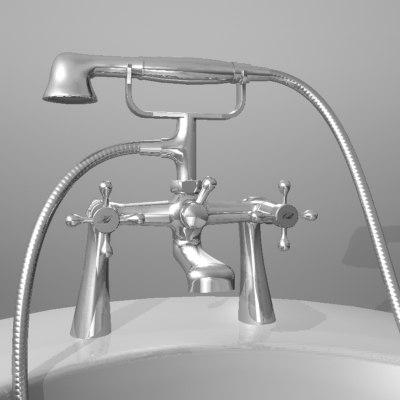 traditional bath tap 3d max