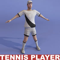 Tennis player static