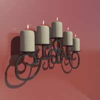 wrought iron wall sconce 3d model