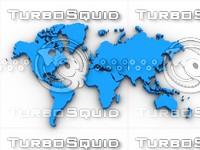 World Map 3D Object
