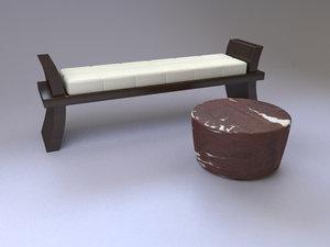 maya african ottoman bench