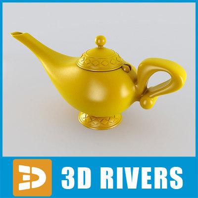 aladdin lamp 3d 3ds