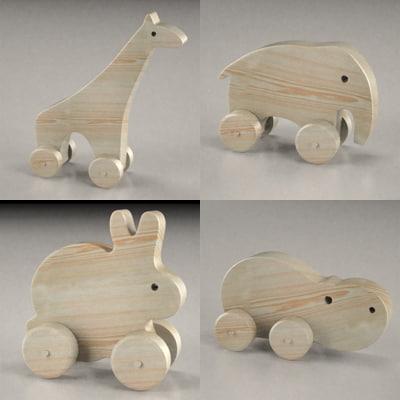3ds max wooden animals