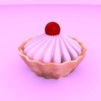 3ds cake cherry