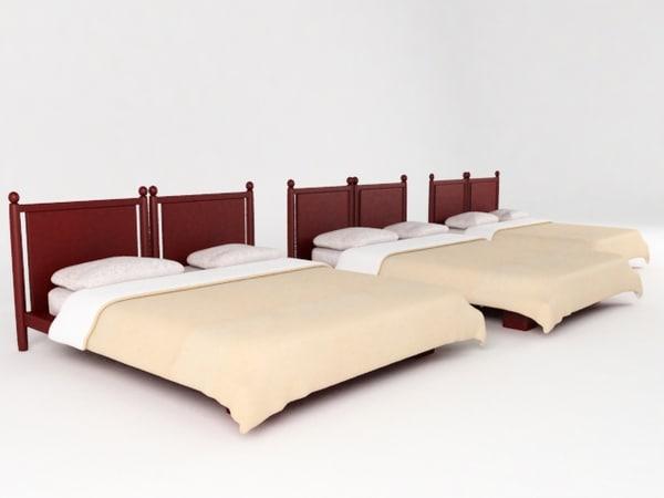 3d bed cama