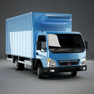 box fuso canter 3d model