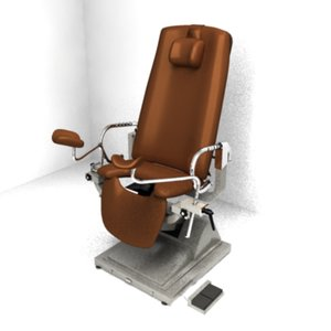 3d model of gynecological chair