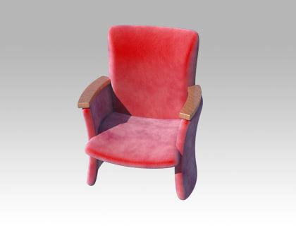 armchair chair 3d ma