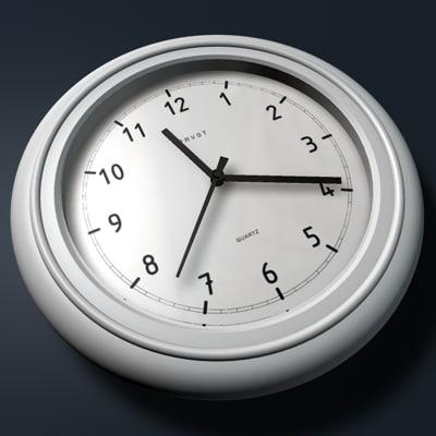 contemporary wall clock 3d c4d