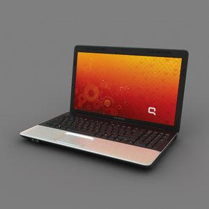 compaq notebook 3d model
