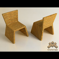 3d exotic bamboo chairs