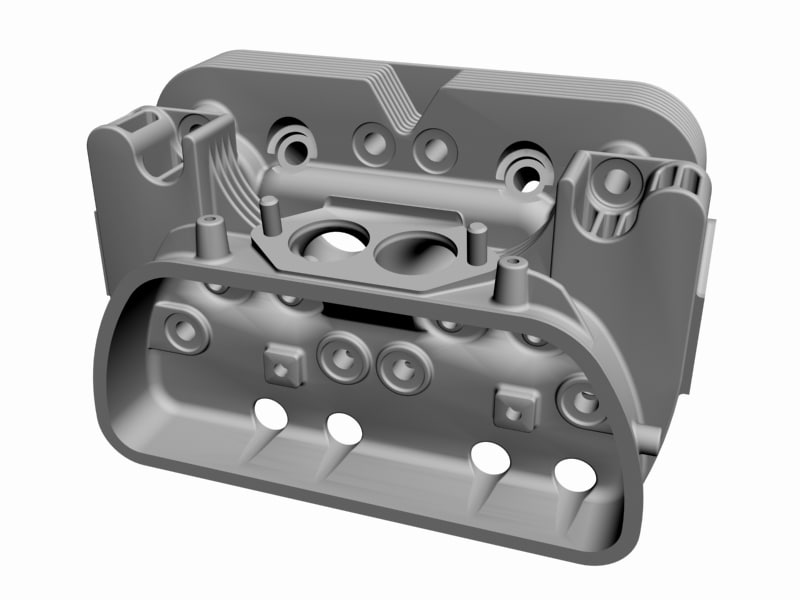 3d max air cooled cylinder head