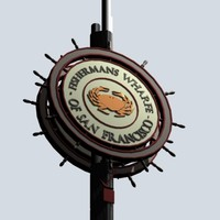 3ds max fishermans wharfe sign