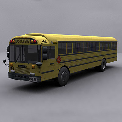 ready school bus 3d model
