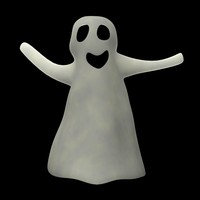 3d ghost cartoon model
