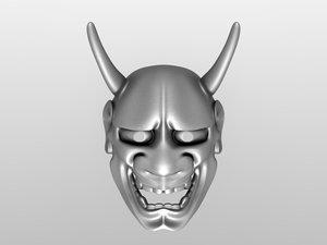 3d model japanese mask