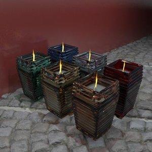 maya ribbed glass candles