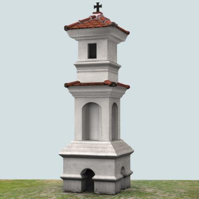 village chapel 3d max