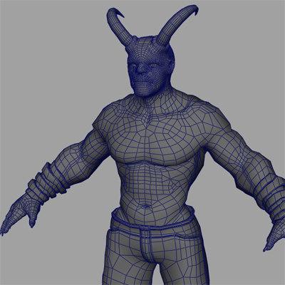 demon pants 3d model
