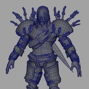 3d model warrior demonstalker
