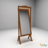 free glass cheval-glass 3d model