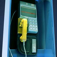 pay phone - urban city phone