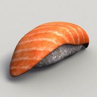 salmon sake 3d model